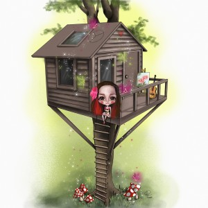Alice in her tree house